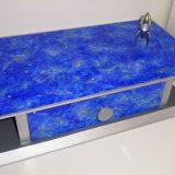 Petit tiroir peint style