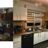 Relooking facades meubles de cuisine